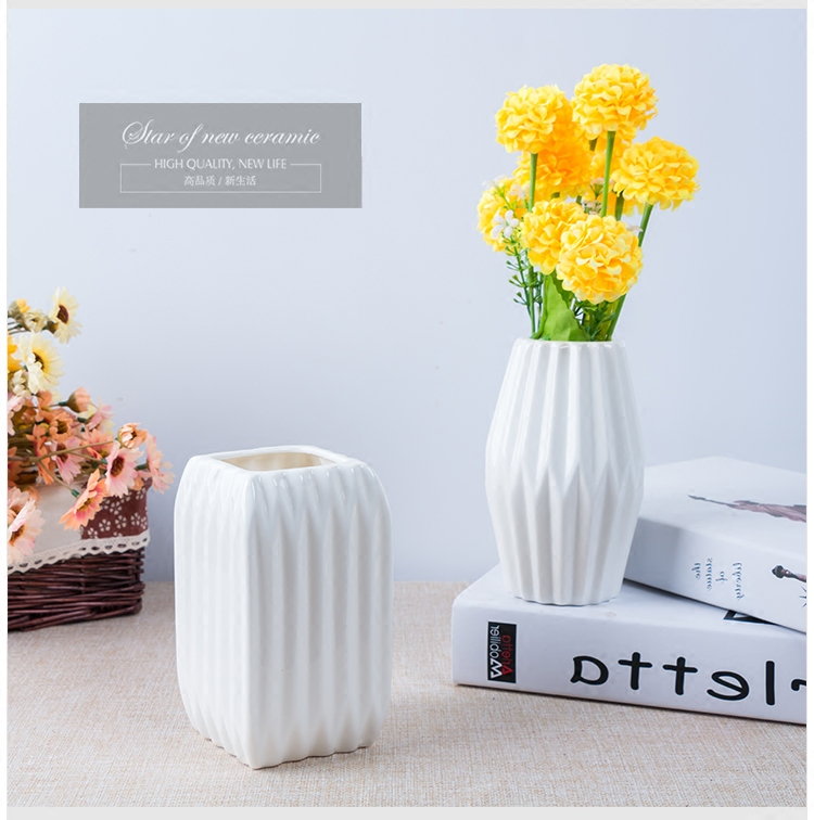 Nordic stylish small white ceramic vases european fashion ceramic nordic stylish small white ceramic vases european fashion ceramic flower vase porcelain flower tabletop vaso for home decoration in vases from home garden mightylinksfo