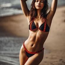 Sexy thong Triangle Bikini 2019 mujer Swimwear Women strap Set Push Up Swimsuit Beachwear Bathing Suit two piece suit