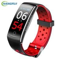 Q8 смарт-браслет для мужчин фитнес-браслет часы трекер сердечного ритма монитор smartband IP68 водостойкий Спорт VS mi band 3