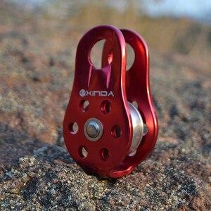 Image 5 - XINDA скалолазание шкив фиксированная боковая пластина одиночный шкив инструмент для выживания на природе высокая площадь подачи передача