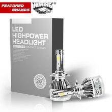 ВИНО Горячие Продажа Автомобилей СВЕТОДИОДНЫЕ Фары H1 H3 H7 H11/H8/H9 HB3/9005 HB4/9006 H27 880/881 9012 Super Power Замена СВЕТОДИОДНЫЕ Лампы комплект
