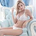 Белье Женщин сексуальный бюстгальтер набор нижнее белье бюстгальтер вышивка сексуальный кружевной бюстгальтер прозрачный ультра-тонкий соблазн bpush ап набор
