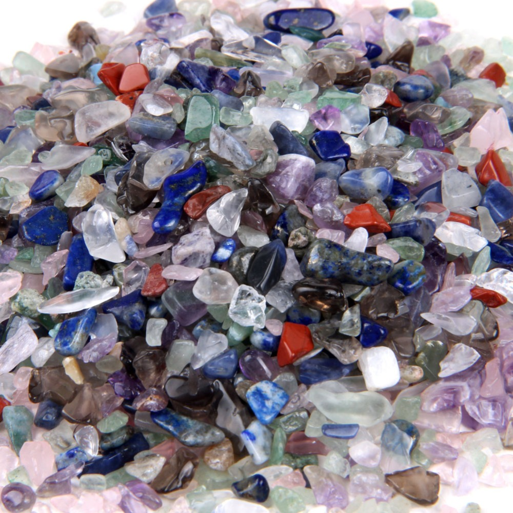 1/2lb полированной мини-натуральный упали Смешанные кристалл исцеление чакра Камни полудрагоценный камень ts0167
