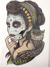 21 X 15 CM Mask Girl Temporary Tattoo Stickers Temporary Body Art Waterproof#169
