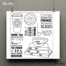 Drink a Cup of Tea Clear Stamp for Scrapbooking Rubber Seal Paper Craft Stamps Card Making