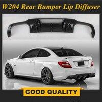 W204 C63 AMG углеродного волокна заднего бампера для губ Диффузор для Mercedes Benz 2011 2014