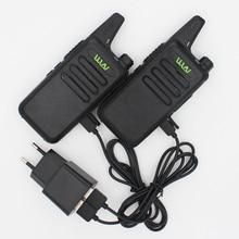 WLN KD-C1 Walkie Talkie Radio de Dos Vías en RUSIA 5 W larga gama Ultra-Delgado Mini radio de Dos Vías UHF 400-470 MHz con EL clip para el cinturón