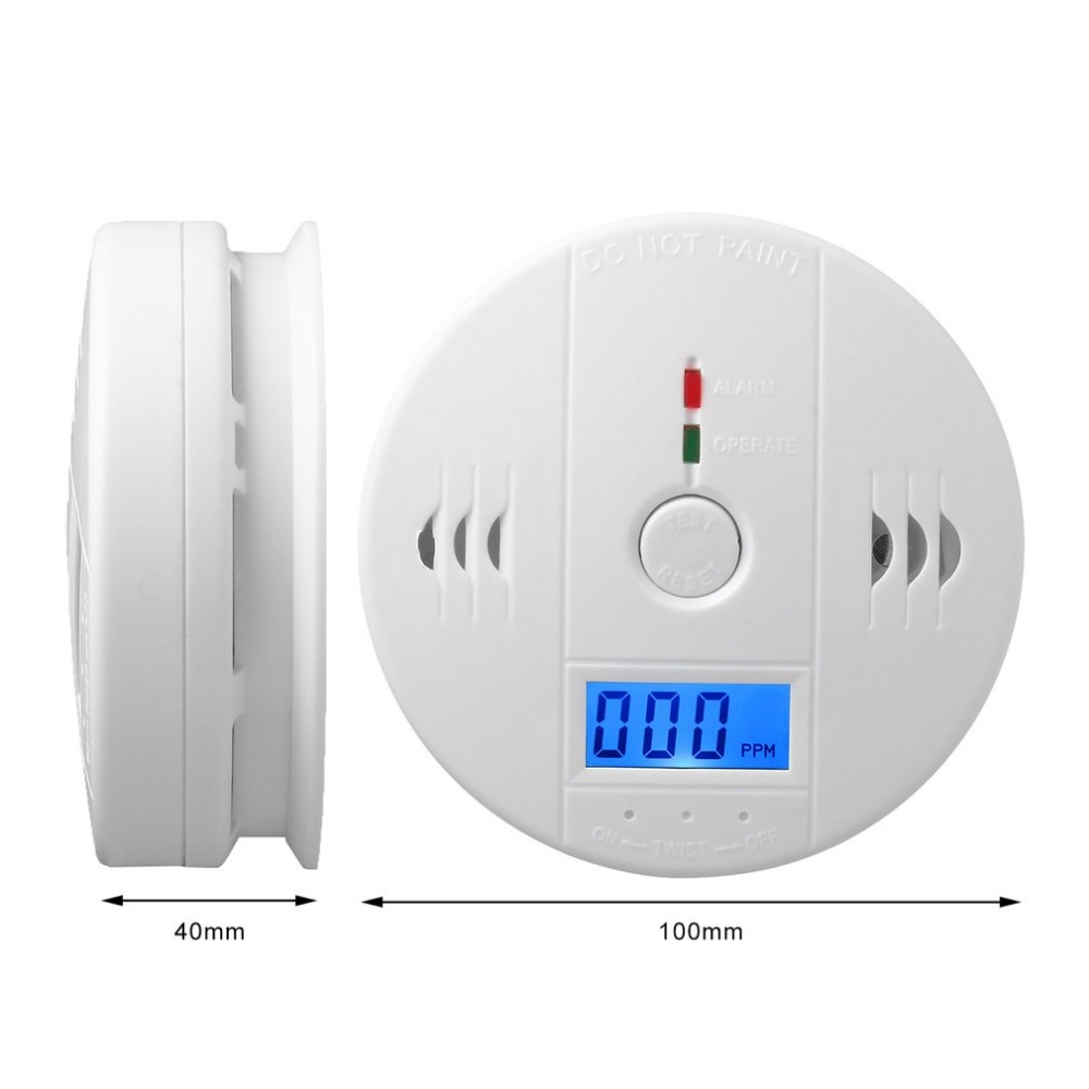 CO Gas Sensor Detector Carbon Monoxide Poisoning Alarm Detector LCD Photoelectric Independent 85dB Warning High Sensitive in Gas Analyzers from Tools