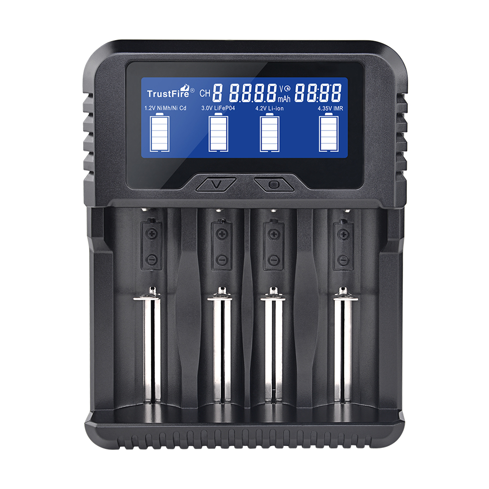 Universal Li-ion Battery 18650 Charger For Flashlight Torch 2 Slots EU Plug 432