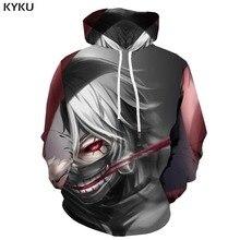 3d Hoodies Tokyo Ghoul Hoodie Men Blood Printed Japan Sweatshirt War Print Gothic Hooded Casual Unisex Funny