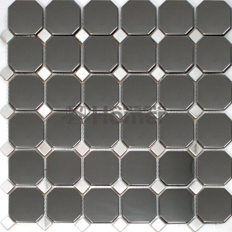 ᐂEnvío libre! Azulejos de mosaico del metal del acero inoxidable ...