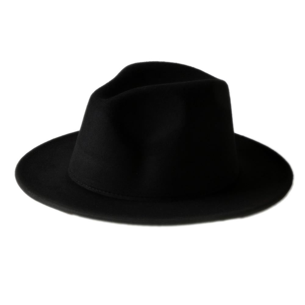 10 Color Men Women 100% Wool VTG Wide Brim Felt fedora hat Trilby Hat BNWT 873f1fe88c4e
