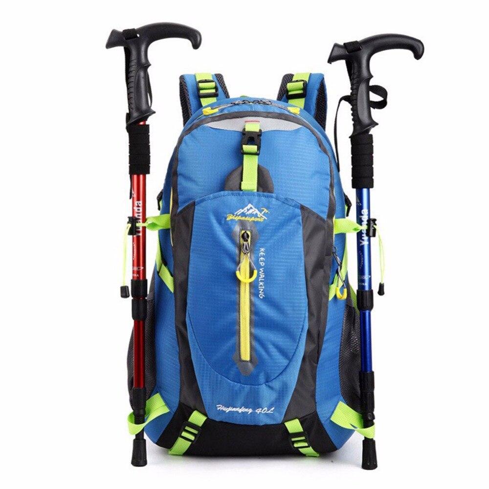 Unisex Nylon Waterproof Bag Women Men Professional casual 40L Capacity Backpack 2016 brand 40l waterproof nylon women