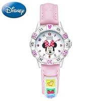 Mickey Minnie Fashion Pink Blue Child Best Gift Waterproof Watches Children Disney Cartoon Wristwatch Boys Girls Love Clocks New