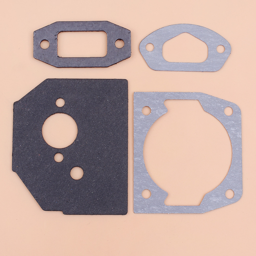 Cylinder Carburetor Muffler Intake Gasket Kit For 4500 5200 5800 Chinese Chainsaw 52cc 45cc 58cc Gas Saws Replacment Parts