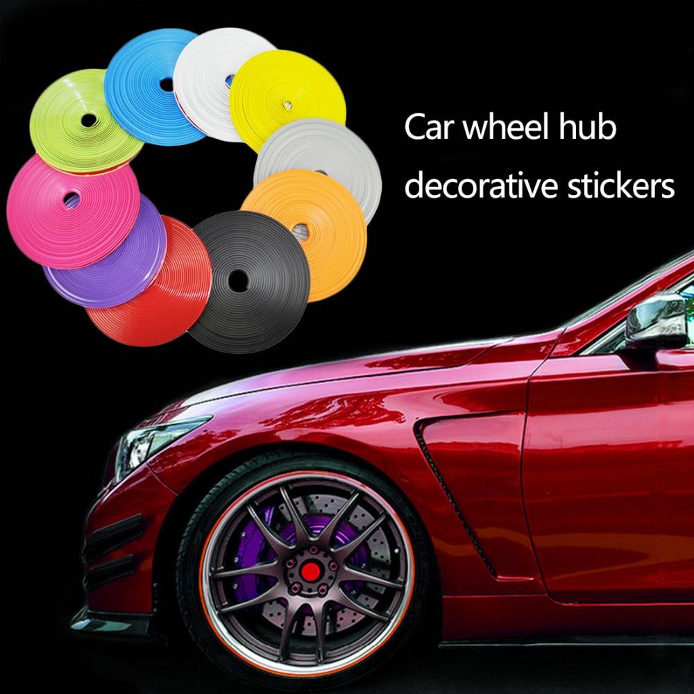 Dewtreetali 8M Car Hub Trim Decoration Anti-Collision Strip Wheel Rim Protector Ring Wheel Tire Edge Changer Guard stickers