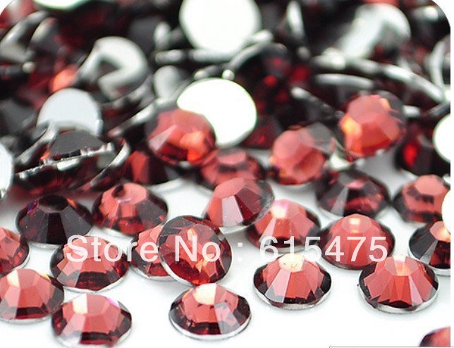 4mm Red Coffee Color,SS16 crystal Resin rhinestone flatback,Free Shipping 50,000pcs/bag red crystal