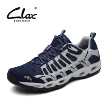 Clax Men's Summer Water Shoes 2017 Mesh Casual Aqua Shoes Male Walking Footwear Lightweight Breathable
