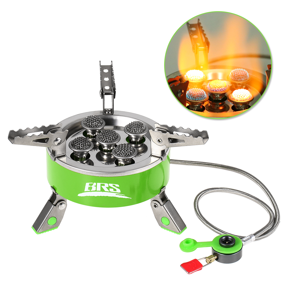 Stainless Steel Cooking Stove Outdoor Windproof Folding Gas Stove Camping Hiking Picnic Foldable Furnace Outdoor Stove
