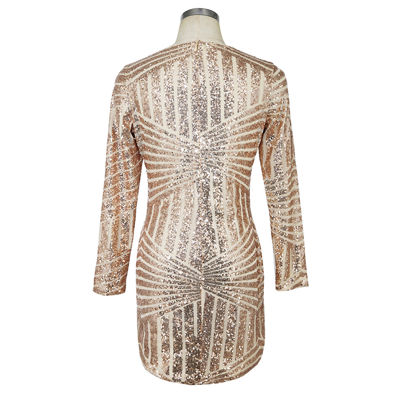 MUXU sexy summer women dress vestidos mujer glitter gold sequin dress  fashionable dresses womens clothing clothes long sleeve -in Dresses from  Women s ... 7e25553def43