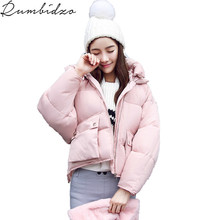 Winter Fashion Women Jackets Short Design Cute Cotton Padded Pink Coats Causual Warm Hoodies Loose Padded Parkas Casaco Female