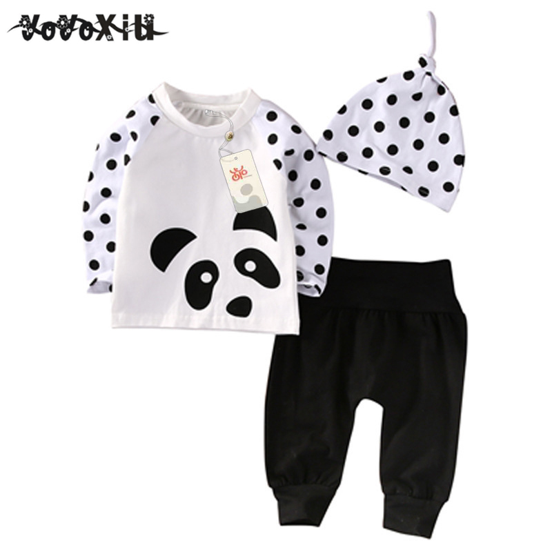 LCLL-yoyoxiu Newborn Baby Boys Girls Clothes Tops T-Shirt Pants Leggings Hat Outfits 3PCS newborn baby suit children clothing