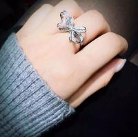 Sterling silver Three dimensional butterfly ring fashion lady engagement jewelry (MA)