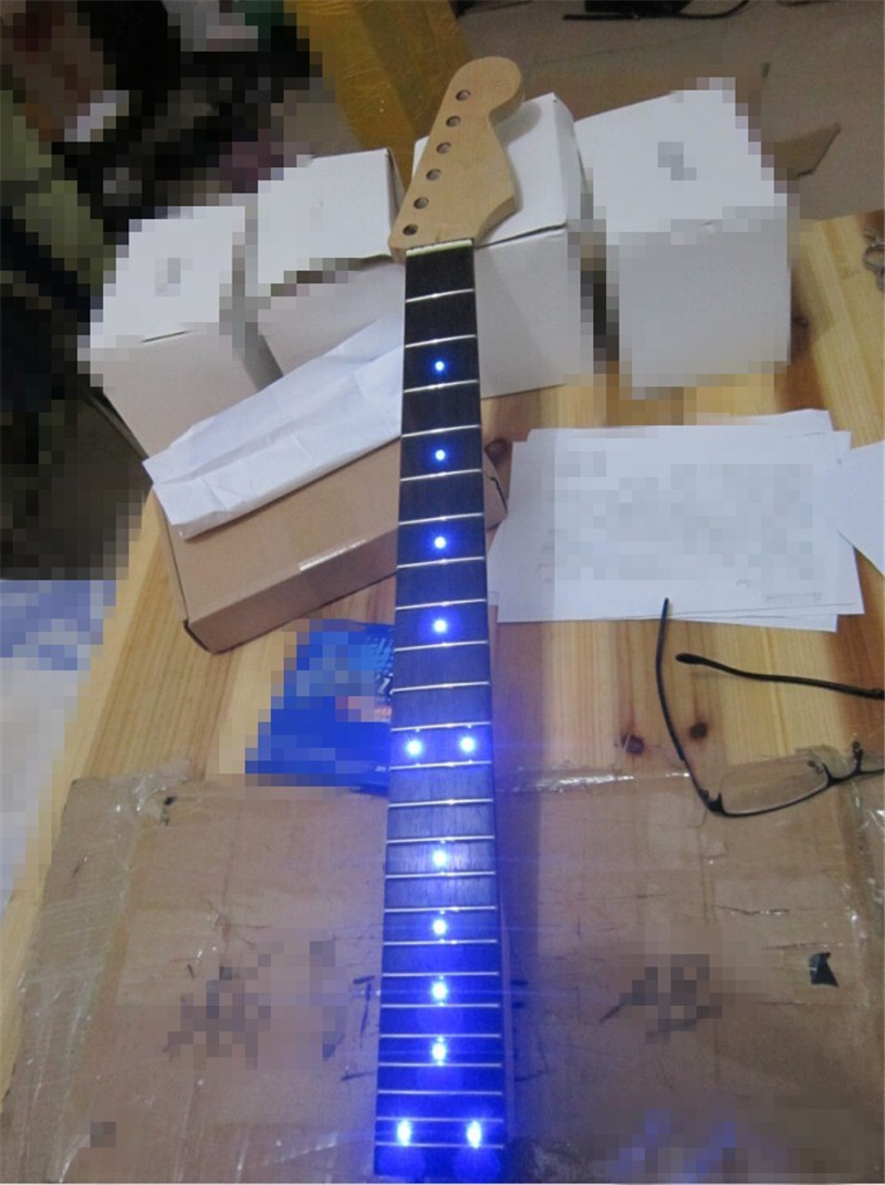musical instruments inlay led dots rosewood fretboard canadian maple electric guitar neck. Black Bedroom Furniture Sets. Home Design Ideas