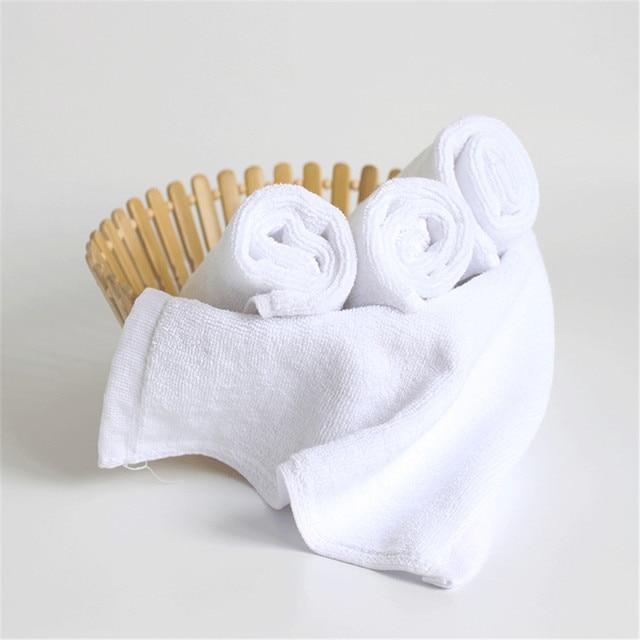 2 PZ Piccoli Asciugamani Puro Cotone Bianco Stile Giapponese Asciugamani Per Cuc