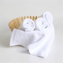 2PCS Small Towels Pure White Cotton Japanese Style Hand For Kitchen Solid Face Wholesale for Adults Camp Shower