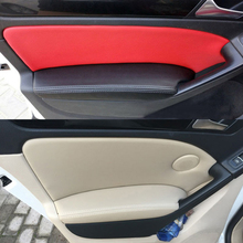 4pcs/set Interior Microfiber Leather Car Door / Armrest Panel Protective Cover Decoration Mat For VW Golf 6 2010 2011 2012 2013