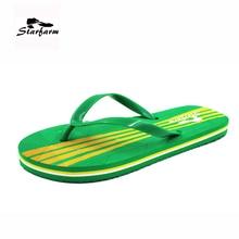 STARFARM Women's Summer Shoes in Green Flip Flops Slippers Casual Slides Flat 2017