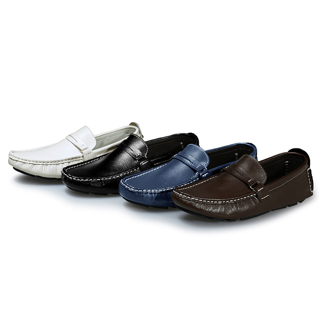 Men's Multicolor Leather Boat Shoes