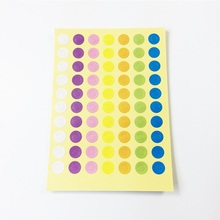 350 Pcs/lot Seven-color Small Circle Seal Stickers DIY Product Label Sticker For Gift Decoration Scrapbooking