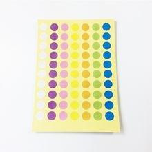350 шт/лот семь цветов маленькие круглые уплотнители наклейки