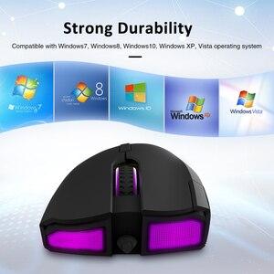 Image 2 - Delux M625 PMW3360 חיישן משחקי עכבר 12000DPI 12000FPS 7 כפתורים RGB תאורה אחורית אופטי Wired עכברים עם אש מפתח עבור FPS גיימר