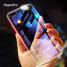 Oppselve Phone Case For iPhone 8 7 6 s 6s Plus Capinhas Luxury Transparent Gradient Soft TPU Silicone Cover Coque