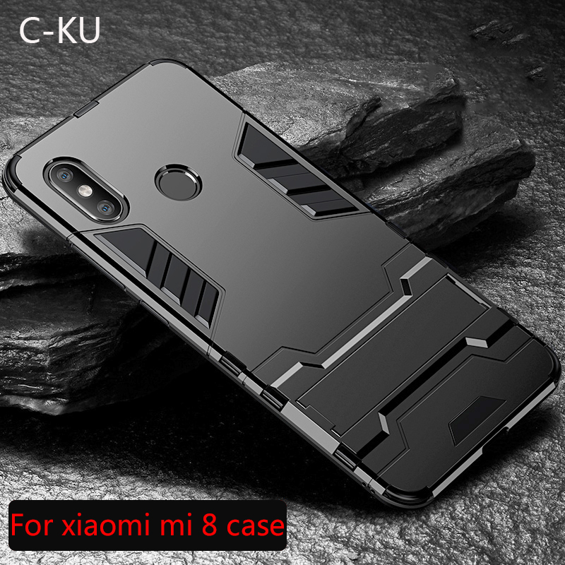 Armor Case for <font><b>Xiaomi</b></font> Mi 8 Se 6 6X 5X A1 2 Lite Mix 2 2S Max 2 3 Stand Back Cover For Redmi S2 Y2 4A 4X Note 5 5A 6 6a Pro Plus image