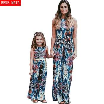 aae50fe0c BEKE MATA vestidos de la hija de madre Verano de 2019 Bohemia madre y hija  ropa