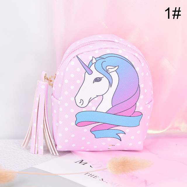 Cartoon Unicorn Coin Purses Women Wallets