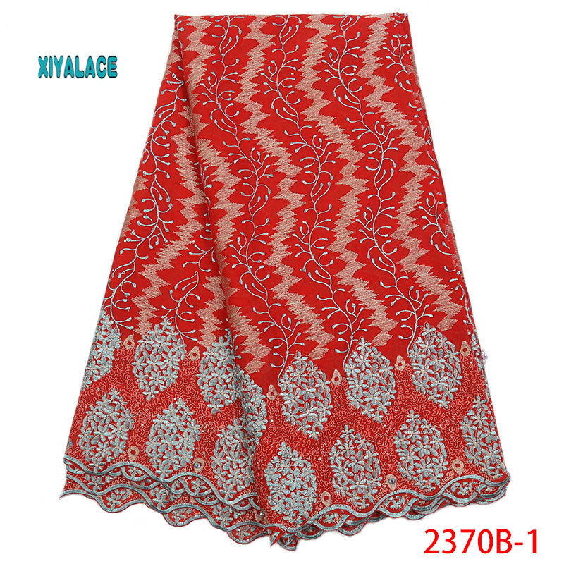 African Lace Fabrics 2019 Nigerian Swiss Voile Lace High Quality French Swiss Voile Lace In Switzerland For Wedding YA2370B-1
