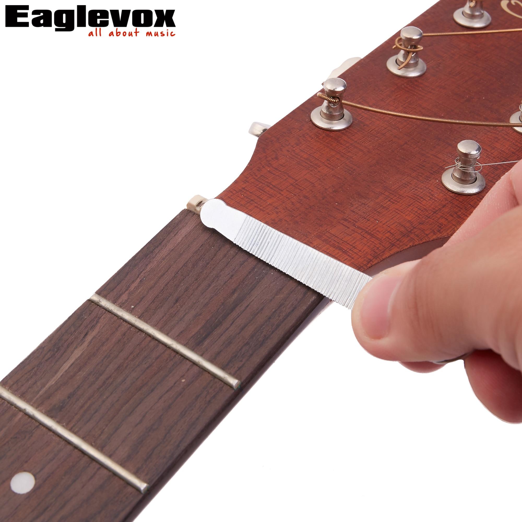 Fesjoy archivo para trastes de guitarra Guitarts Frets File Herramienta de mantenimiento de reparaci/ón de guitarra de acero inoxidable Herramienta Luthier