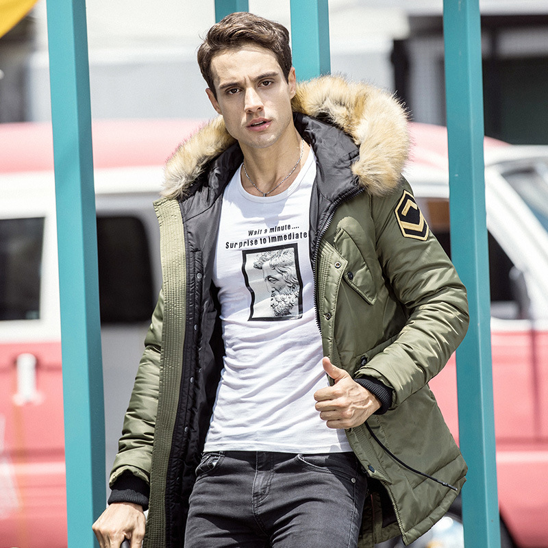 Winter Jacket Men Long Design Warm Thicken Coats Male High Quality Fashion Fur Collar Hooded Parkas Men's Windbreak Outwear snow wear 2017 high quality winter women jacket cotton coats fur collar hooded parkas fashion long thick femme outwear cm1346