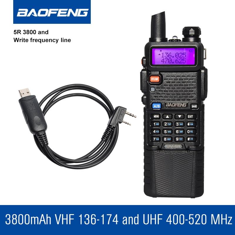 Baofeng UV-5R 3800 Walkie Talkie 5W dvopojasni radio UHF 400-520MHz - Voki-toki - Foto 3