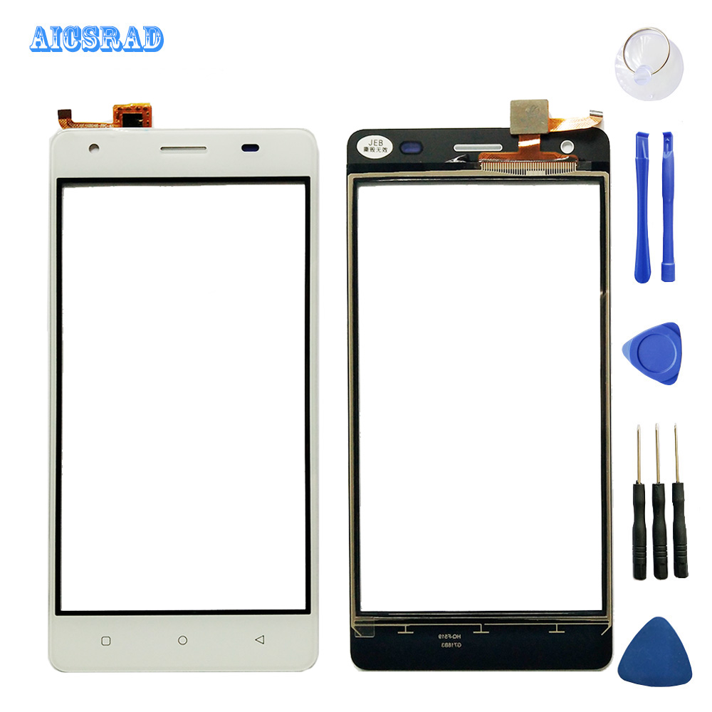 AICSRAD High Quality 5.0Inch For JUST5 Freedom M303 Touch Screen Digitizer Touch Panel Lens Glass With Tools Balck White(China)