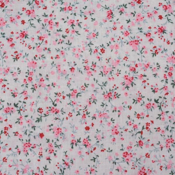 1 Pezzo 50*50 Cm 100% Cotone Tessuto Rosa Fiori Stampati Per Quilting, Tilda, Tessuto Per Portafogli Pb076 Colore Veloce