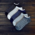 Men 's leisure comfortable stripes socks new standard thickness fashion cotton short tube socks for men calcetines hombre