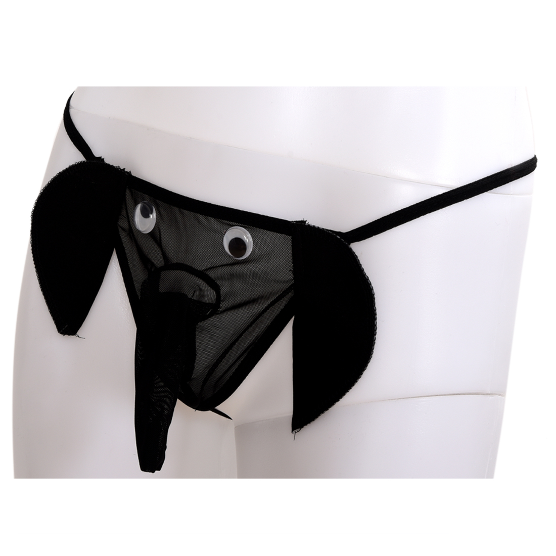 5fbcda91bfb Sexy Men Elephant Underwear Pouch Briefs Thongs Funny G string Black-in G- Strings   Thongs from Men s Clothing   Accessories on Aliexpress.com