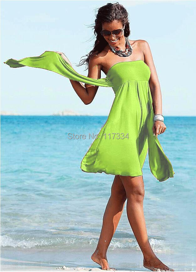 328ff8e4100a6 2015 Summer Novelty Bikini Dress European Style Women's tunic Sexy Dress  Women Beach Cover up Magic Wrapped Chest Beach dress on Aliexpress.com |  Alibaba ...