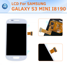 Black White For Samsung I8190 Galaxy S3 Mini Lcd Touch Screen Digitizer Assembly S3 Mini I8190 Display With Frame Tools